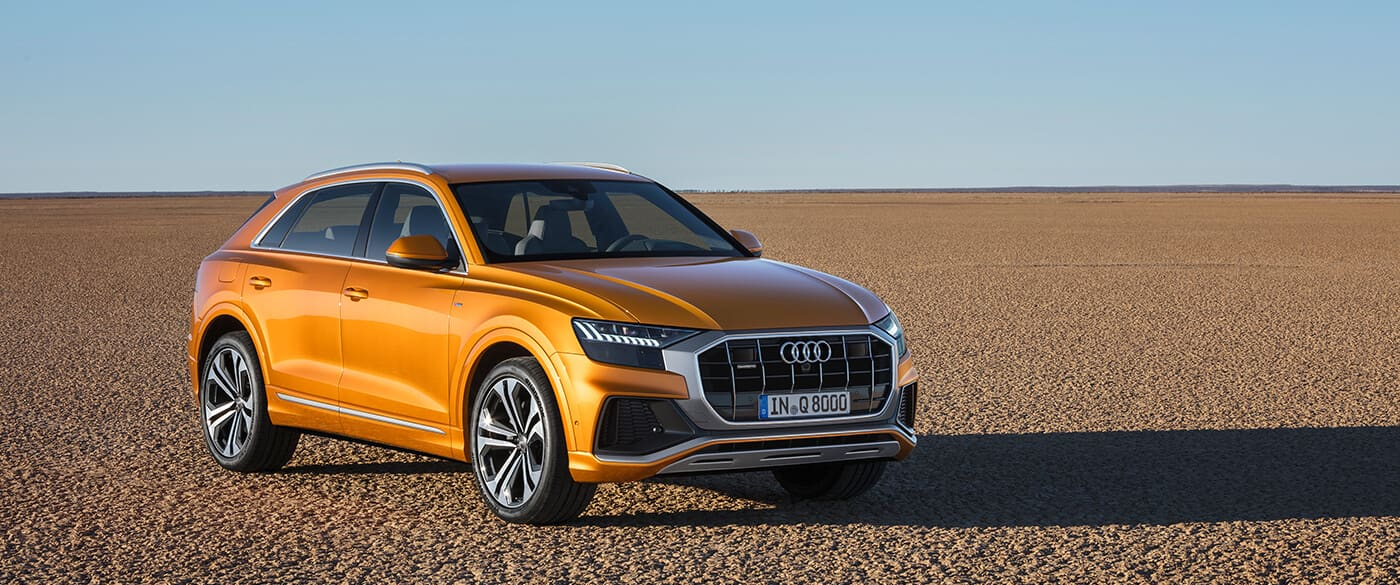 The New Face Of The Q Family The Audi Q8 Audi News Audi Dubai