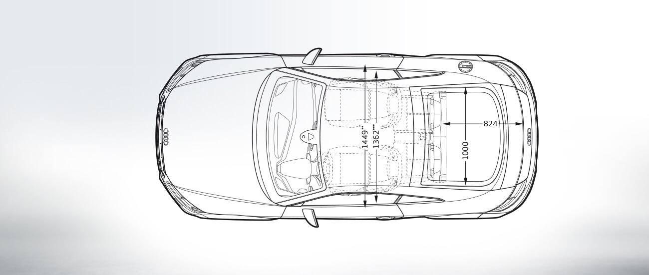 Audi Tts Coupe Topview Audi Tts Coupe Dimensions Audi Tts Coupe